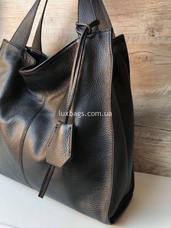 кожаная итальянская сумка на плечо 2