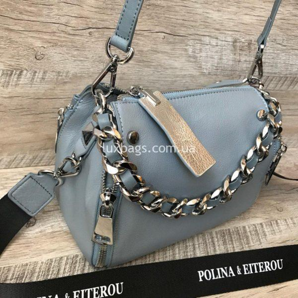 голубая мини сумка через плечо polina&eiterou 2