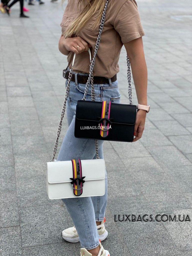 Кожаная женская сумка Пинко Pinko Love Bag Sport in Pell