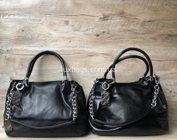 черные кожаные сумки на плечо