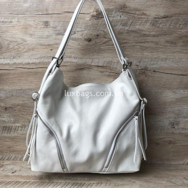 белая сумка рюкзак
