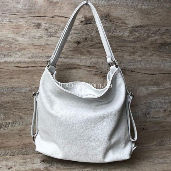 белая сумка-рюкзак 2