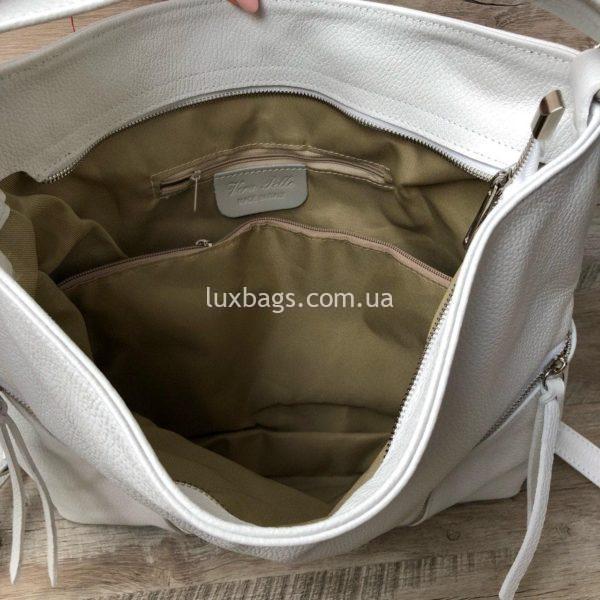 белая сумка-рюкзак 4