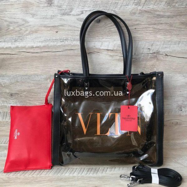 прозрачная пляжная сумка