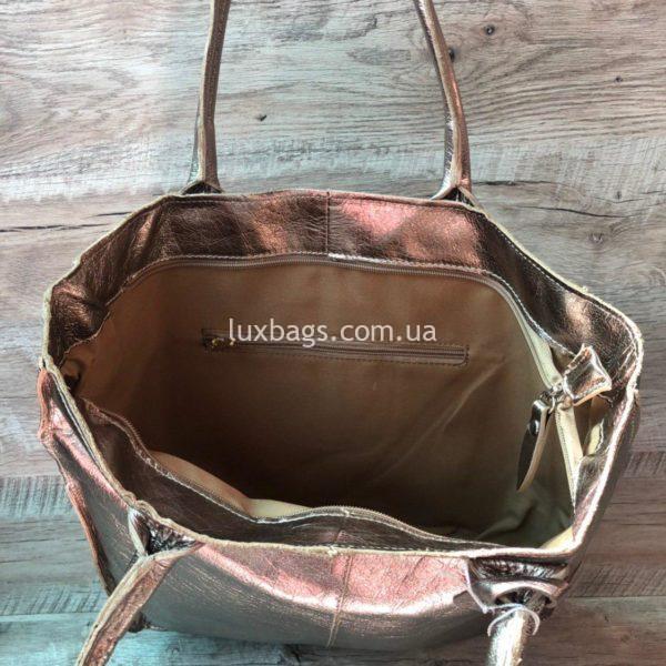 Женская кожаная сумка Vera Pelle 4