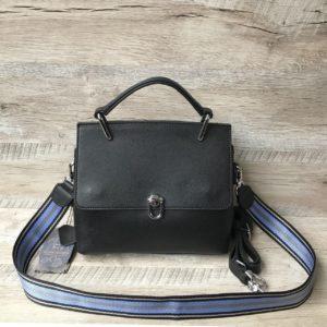 кожаная чёрная сумка 2
