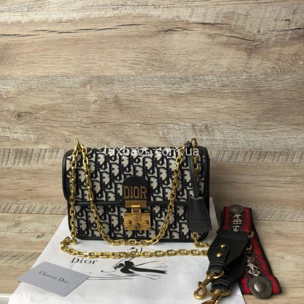 сумка Dior тканевая 4