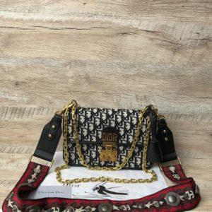 сумка Dior тканевая 5