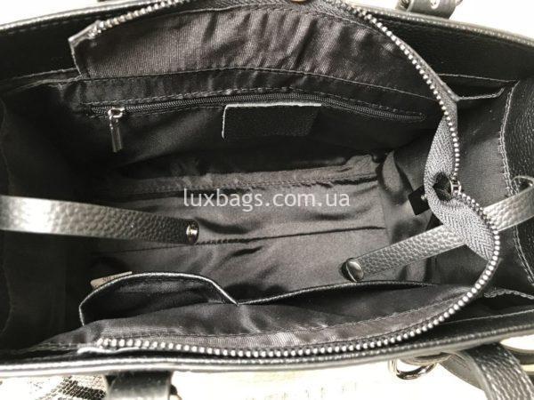 кожаная сумка с выделкой под крокодила 7