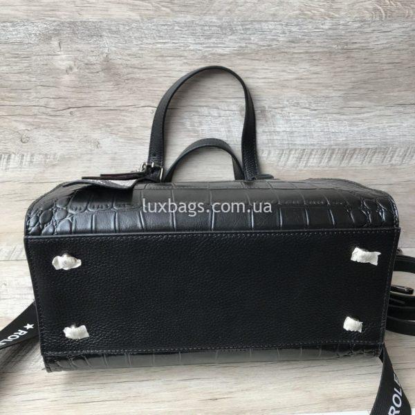 кожаная сумка с выделкой под крокодила 2