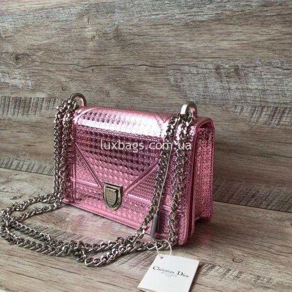 Розовая сумка Dior Diorama 2