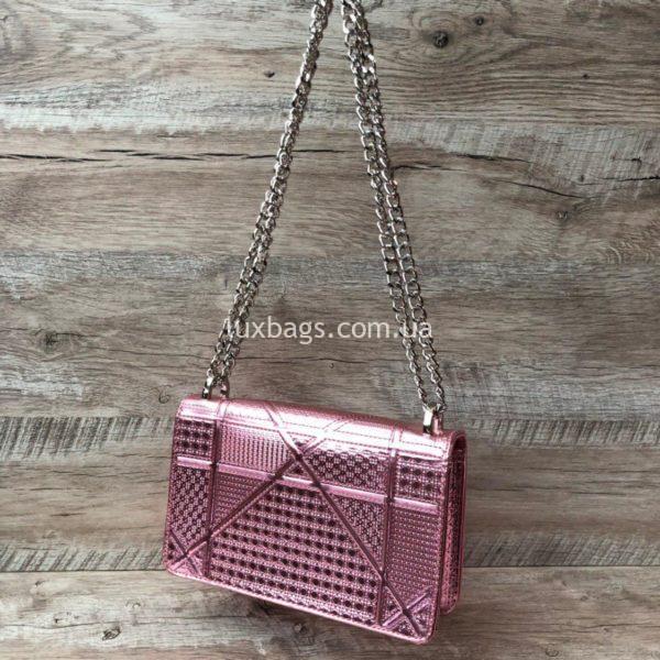 Розовая сумка Dior Diorama 3