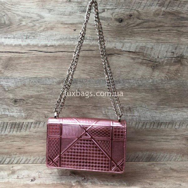 Розовая сумка Dior Diorama 4