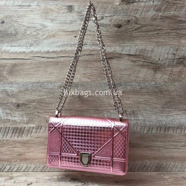 Розовая сумка Dior Diorama 5