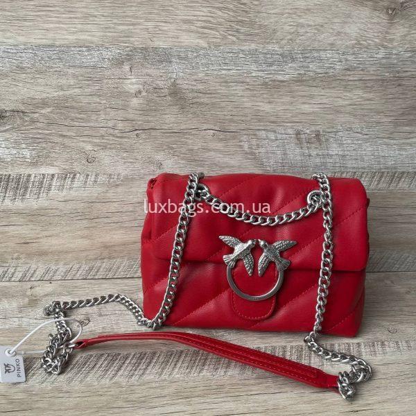 Красная сумка pinko PUFF bag красная 2.