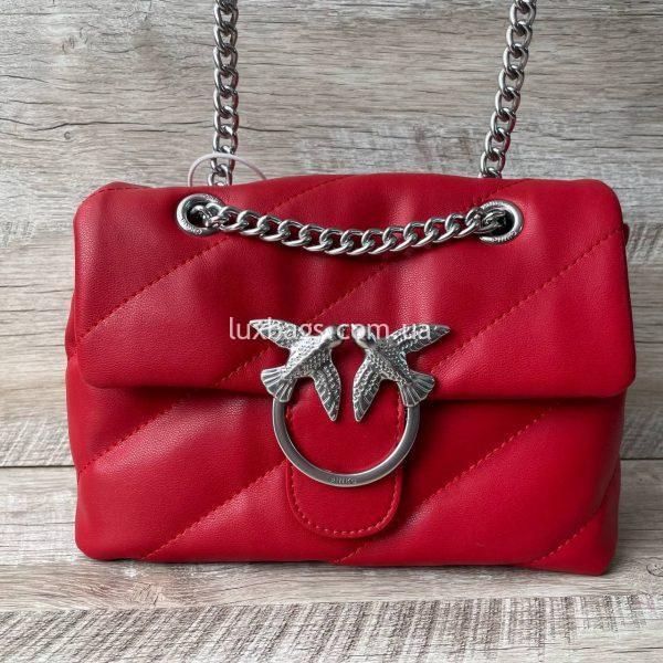 Красная сумка pinko PUFF bag красная.