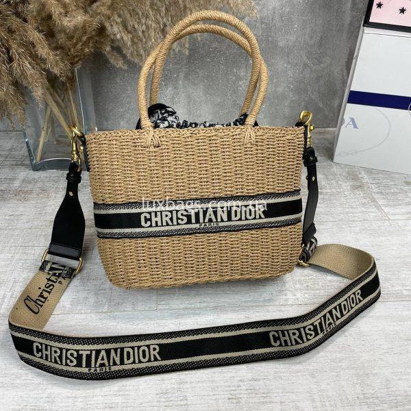 Модная плетеная женская сумка Christian Dior.