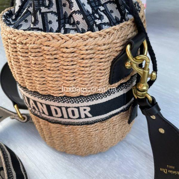 Соломенная женская сумка Christian Dior 4.