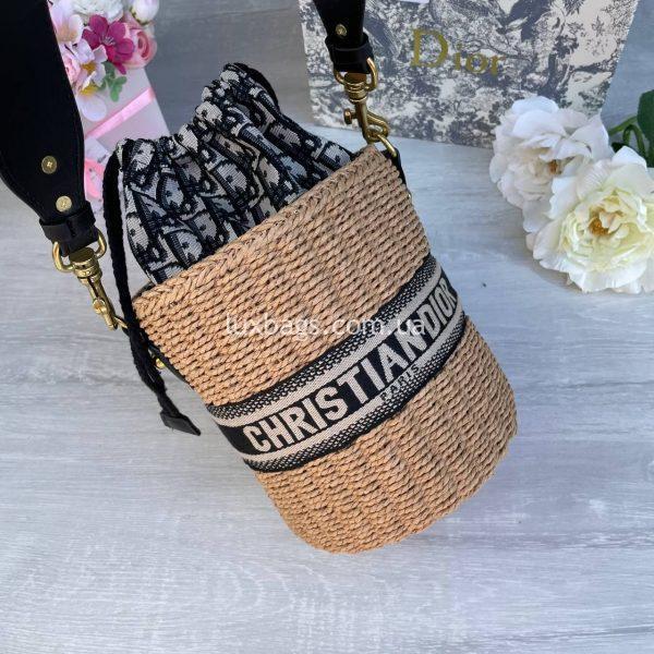 Соломенная женская сумка Christian Dior 5.