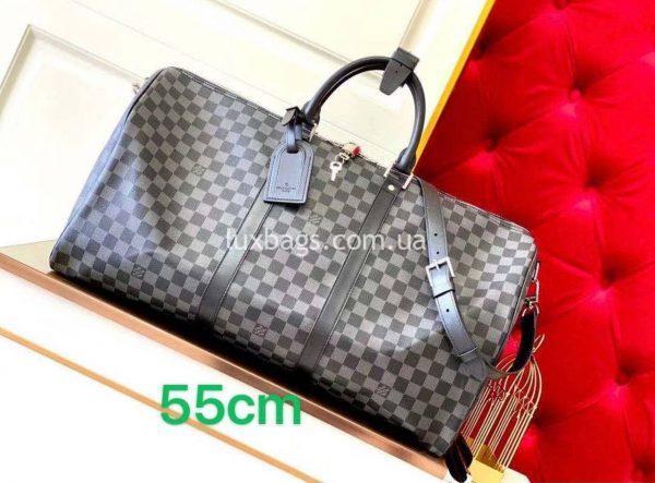 Дорожная стильная сумка Louis Vuitton в клетку.