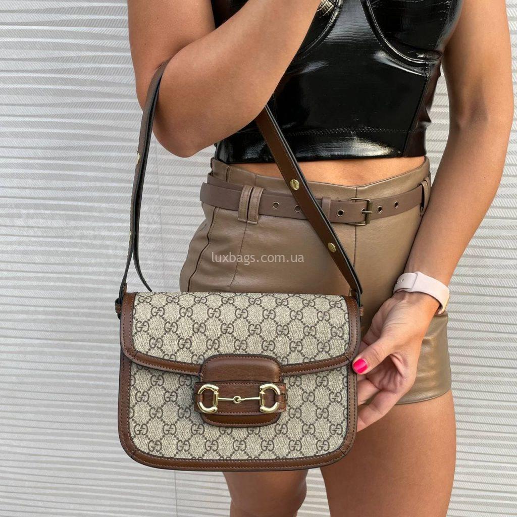 Женская сумка модная модель Gucci 1955 Horsebit